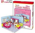 Christmas/Birthday gift,Home Adornment,3D Puzzle Model Toy,Paper model,Papercraft,Honey Room bedroom