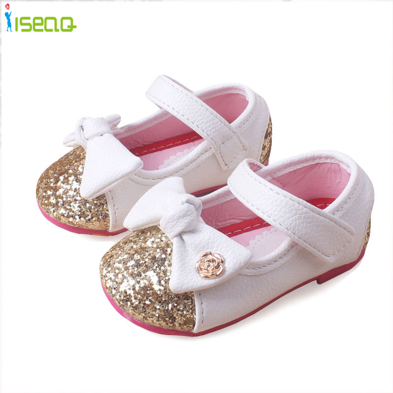 Baby Girls leather shoes Princess butterfly-knot soft Toddlers Kids casual  Shoe Summer Cute Girl