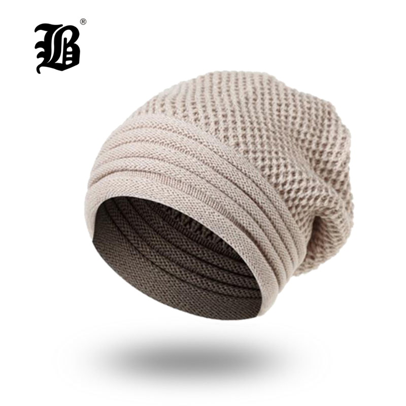 [FLB] Winter Hat For Men Women   Skullies     Beanies   Womens Fashion Warm Cap Unisex Elasticity Knit   Beanie   Hats Knitted Hat FK7706