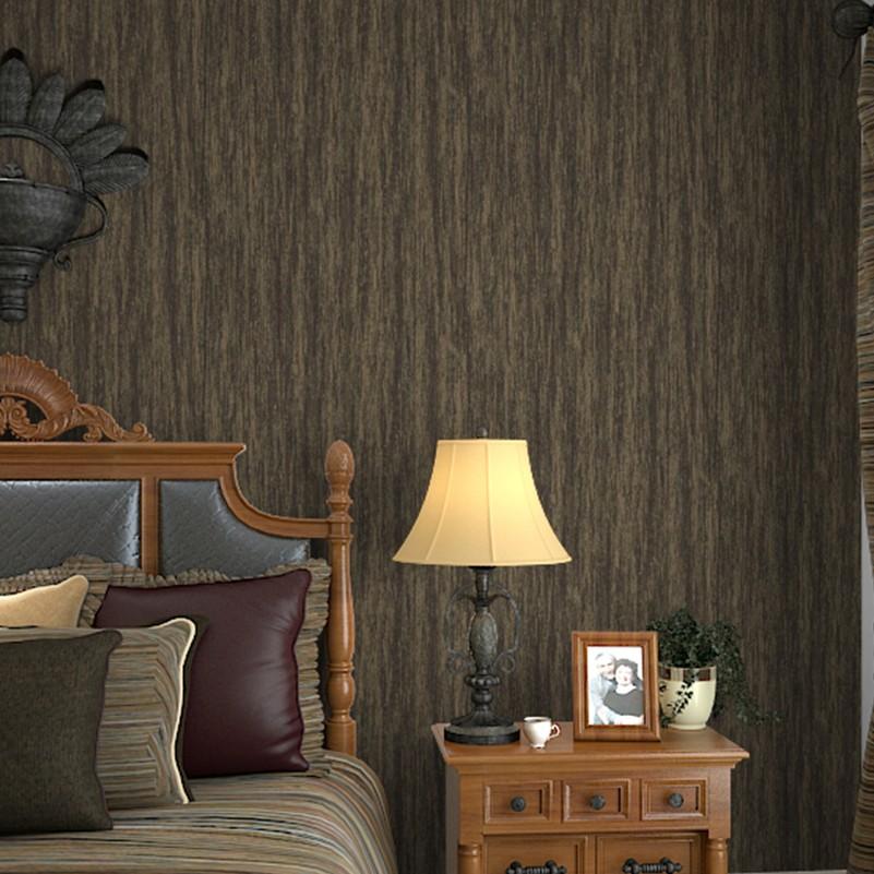 diseo de interiores de la vendimia retro metlico rayado wallpaper para paredes y dormitorio marrn