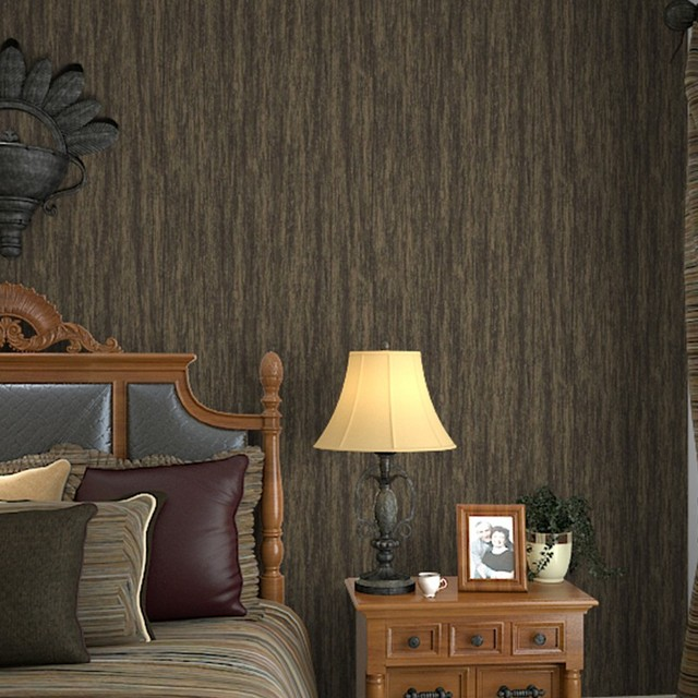 Interior Design Vintage Retro Striped Metallic Wallpaper For Walls U0026 Bedroom ,Gold Brown