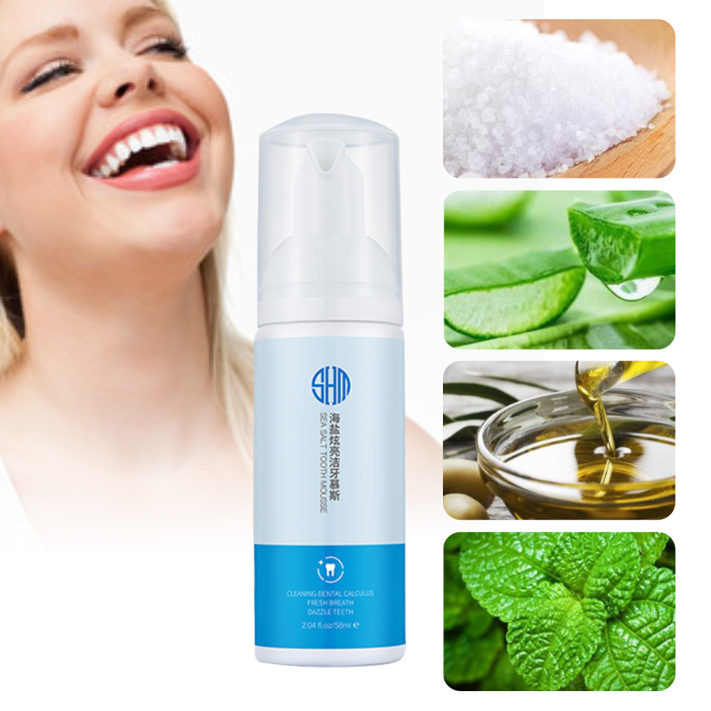 58ml Sea Salt Whitening Teeth Dry Mouth Spray Remove Smoke Stains Bad Breath Teeth Mousse Teeth Oral Cleanser for Tooth Care image