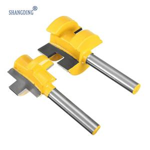 "Image 2 - 2Pcs/Set 1/4 Inch Shank Tongue Groove Router Bit +1/4"" Shank Groove router bit Wood Woodworking Cutting Tools"