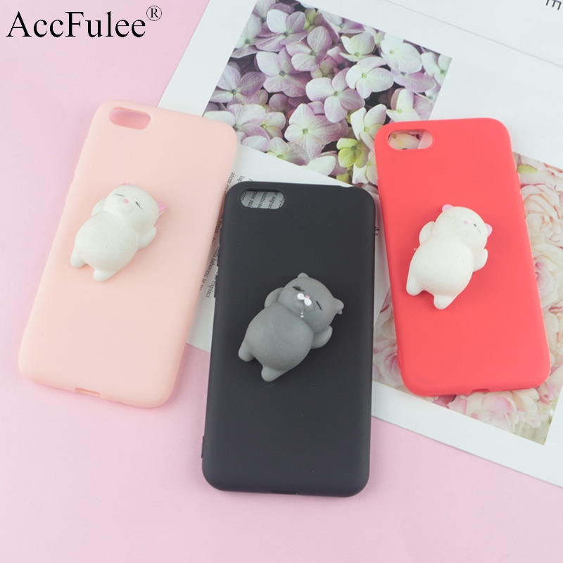 US $1 9 17% OFF|Squishy 3D Toys Phone Cat Case For Huawei Y5 Lite 2017 Y6  Prime 2018 Y7 Pro 2019 Y9 Cartoon Sea Cover Funny Foot Soft Case-in Fitted