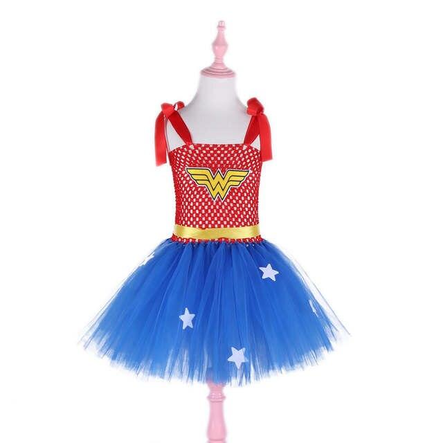 disfruta del precio inferior apariencia elegante buscar original De dibujos animados niñas princesa maravilla Tutu mujer, vestido de Cosplay  traje de superhéroe traje de cumpleaños de bebé, Vestidos de fiesta para ...
