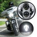 "Chrome 5.75"" Harley Moto H4 Led Headlight 5 3/4"" LED Projection Daymaker II Headlight For Harley Davidson Sportster Motos"