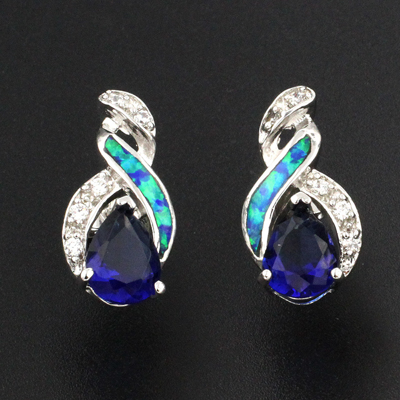2017 SALE Hermosa Jewelry Elegant HOT LADY GIFT 925 Sterling Silver Womens Earrings FREE SHIPPING