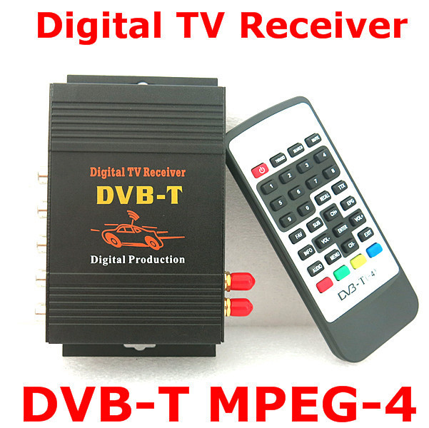 Car DVB-T MPEG-4 Dual Tuner 140-200KM/H DVB T SD Car Digital TV Tuner Receiver for Europe Middle East Australia car four tuner way single antenna dvb t mpeg 4 external digital mobile tv receiver