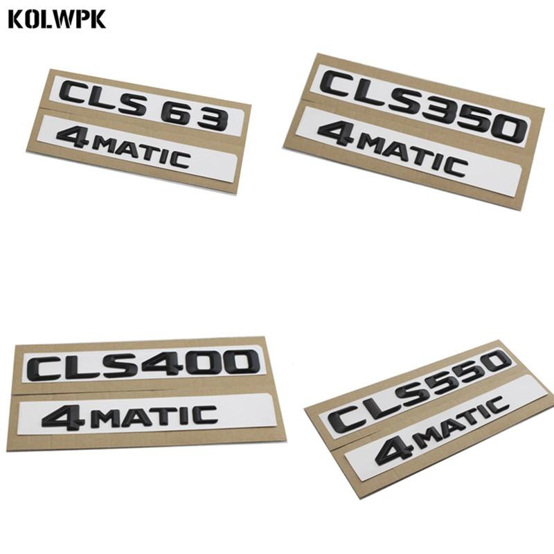 1Set For Mercedes Benz CLS350 4Matic Gloss Black Letters Rear Trunk Badge Emblem