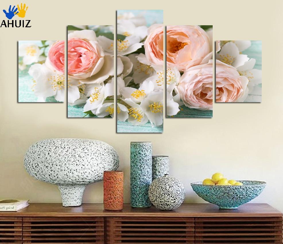 Beeindruckend Wandbilder Blumen Dekoration Von Unframed Leinwand-malerei Poster Moderne Decoracion Für Wohnzimmer