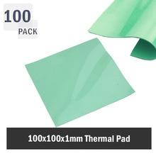 100pcs 100mmx100mmx1mm Silicon Thermal Pad Heatsink Conductive Insulation Paste GPU CPU