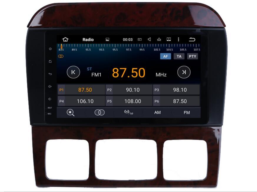 Lecteur DVD de voiture 4G LTE 2 Din 1024*600 Android 8.0 pour Mercedes/Benz classe S W220 W215 S280 S430 S500 avec Radio GPS WiFi 4 GB RAM