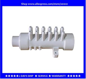 "Image 1 - 1.5 "" מפיץ מים עם 12 סניפים 12 עקיצות pvc סעפת אוויר pvc מפיץ אוויר סעפת 11.5 מ""מ עבור אמבטיה ג  קוזי ספא"