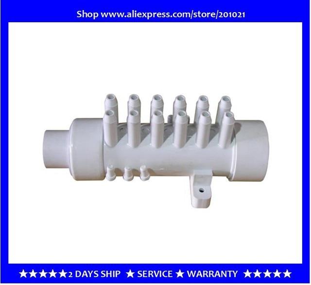 """1.5 """" מפיץ מים עם 12 סניפים 12 עקיצות pvc סעפת אוויר pvc מפיץ אוויר סעפת 11.5 מ""""מ עבור אמבטיה ג  קוזי ספא"""