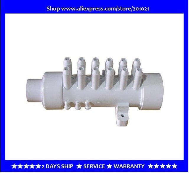 Distribuidor de agua de colector de PVC de 1,5 pulgadas, 12 ramas, 12 púas, colector de aire de PVC, 11,5mm, distribuidor de aire para bañera, bañera de hidromasaje, spa
