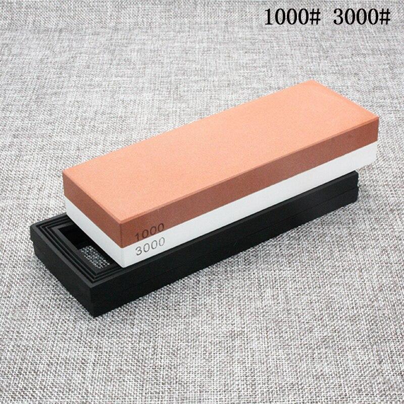 Couteau de cuisine sharpener affûtage 1000/3000 pierre à aiguiser pierre à huile pierres à aiguiser machine de broyage meule