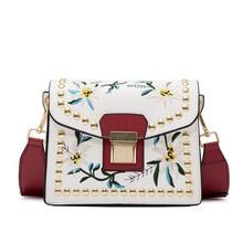Bolso de las mujeres bolsas de mensajero bolsos de diseño de lujo flores crossbody de cuero de LA PU monedero de las mujeres
