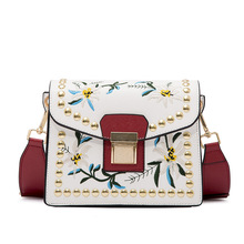 Handbag women messenger bags luxury handbags designer flowers PU leather crossbody women purse