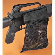 Jaktskytte Brass ar15 Bullet Catcher Rifle Gun Mesh Fälla Shell Catcher Wrap Around Zipper Bag