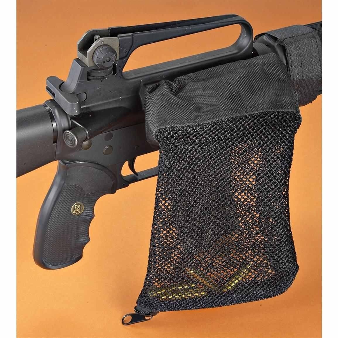 Hunting tactical M4 military army shooting Brass ar15 Bullet Catcher Rifle Gun Mesh Trap Shell Catcher Wrap Around Zipper Bag