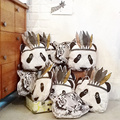 2016 New  MAKA KIDS Fahion Baby Stuffed Toys Pillow Kids Room Bed Sofa Decorative Indian Panda Cushion Children's Best Gift