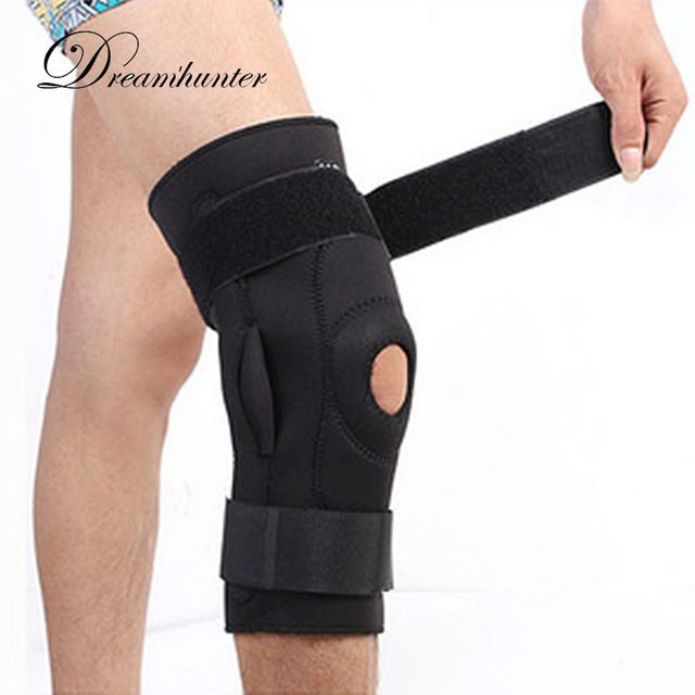 15dfe935e2 Adjustable Bandage Knee Protectors Holder Sports Basketball Football Volleyball  Knee Pads Braces Bandage Knee Supports