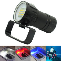 Scuba Diving Flashlights Underwater 100M XM L2 LED Video Photography Light Dive Torch Professional Photo Flashlight (Torch Only)
