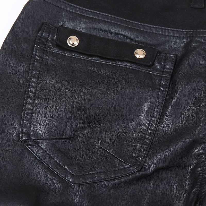 e3aa6ee531f46 Hot sale fashion men leather pants slim fit skinny jeans motorcycle  trousers size 28 36 B104-in Skinny Pants from Men s Clothing on  Aliexpress.com