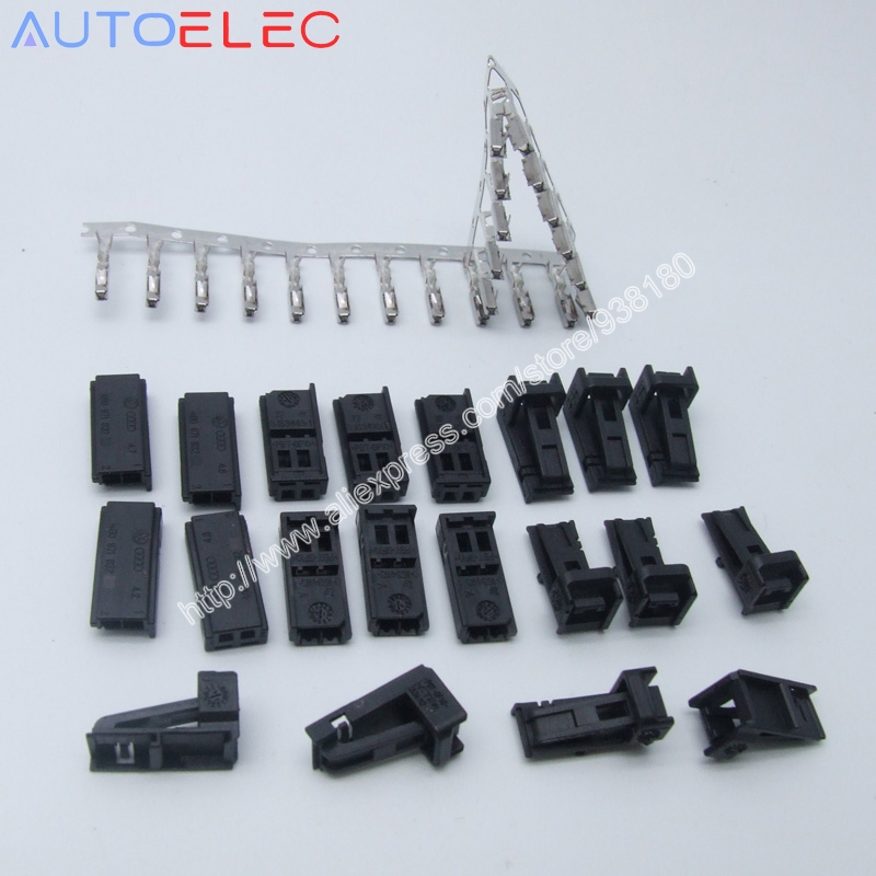 100Sets Volkswagen 4B0 971 832 female plug refires accessories 4B0971832 Automotive connector for Audi VW Skoda HARNESS REPAIR