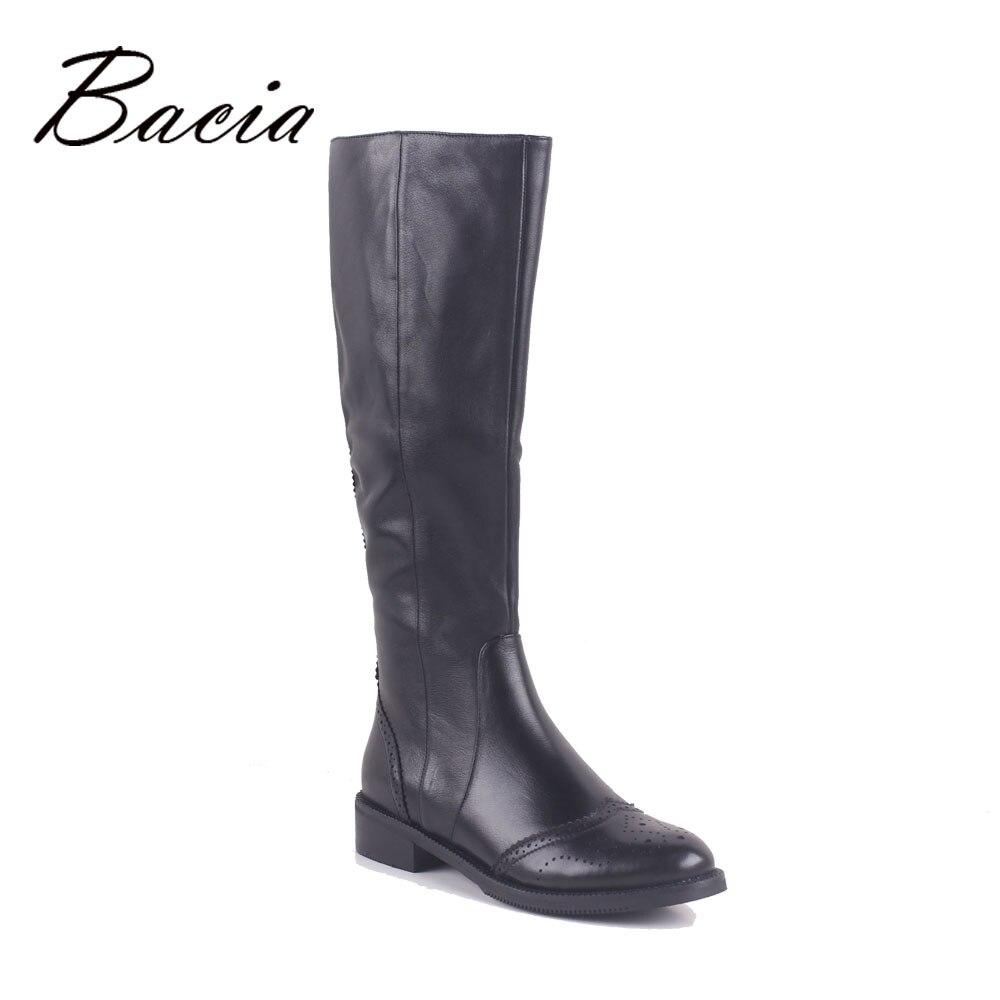 Bacia invierno lana y corto felpa interior zapatos calientes mujer Full Grain cuero hecho a mano 3,5 cm Rusia botas MC020