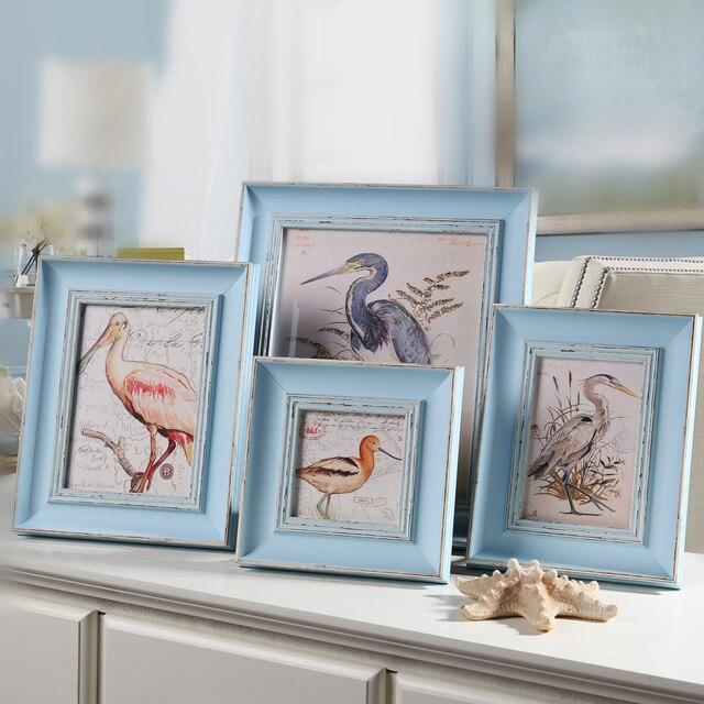 Blanco azul oro boda marcos de fotos, marcos para cuadros, Árbol ...