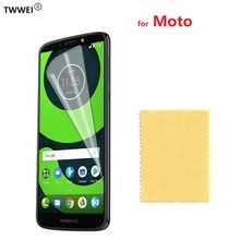 Clear LCD Screen Protector for Moto G6 Paly G5 G5s Plus Protective Film for Moto G7 Power Play Plus Screen Protector Film Foil yi yi clear pet screen guard film for moto g moto dvx xt1031 xt1032 glossy 10 pcs