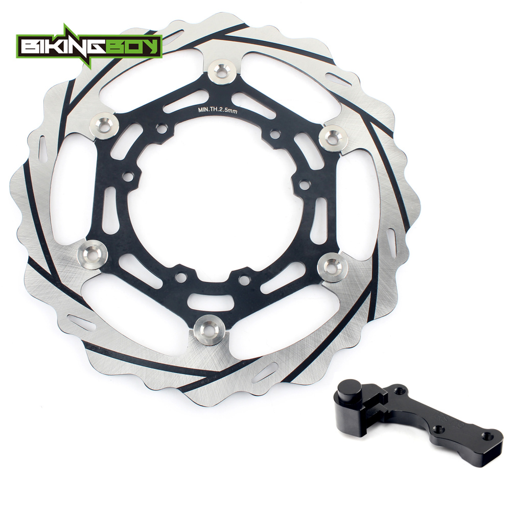 BIKINGBOY Oversize 270MM Front Brake Disc Rotors Bracket for HONDA CRF250R CRF450R 15 16 17 CRF450X CRF450R CR125R CR125E CR125R cnc offroad mx clutch brake levers for honda cr125r 04 07 cr250r crf250r 04 06 crf450r 04 06 crf250x 04 16 crf450x 05 16