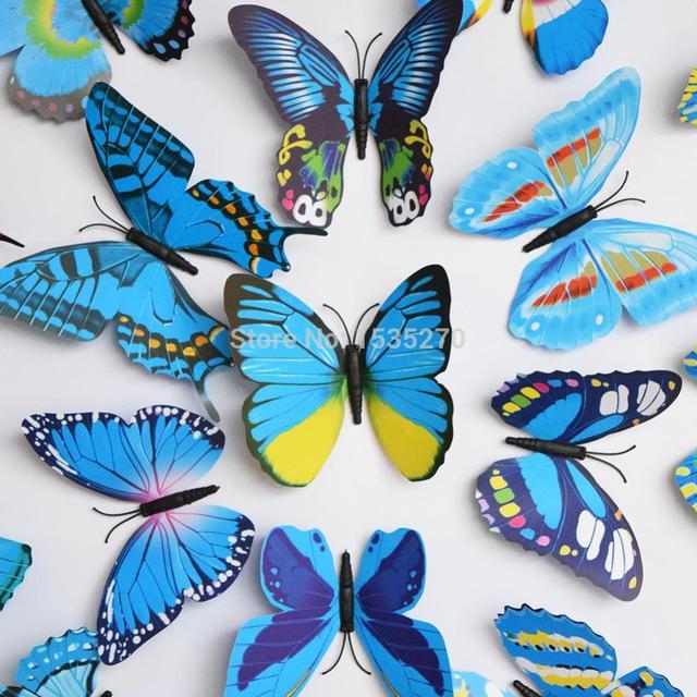 Big Size D Butterfly Wall Stickers Butterflies Refrigerator - Butterfly wall decals 3daliexpresscombuy d butterfly wall decor wall sticker