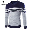 Pull Homme 2016O-Neck Sweaters Stylish Knitted Long Sleeve Men Sweater Male Mixed Colors Sweaters Pullover XXL DTESA