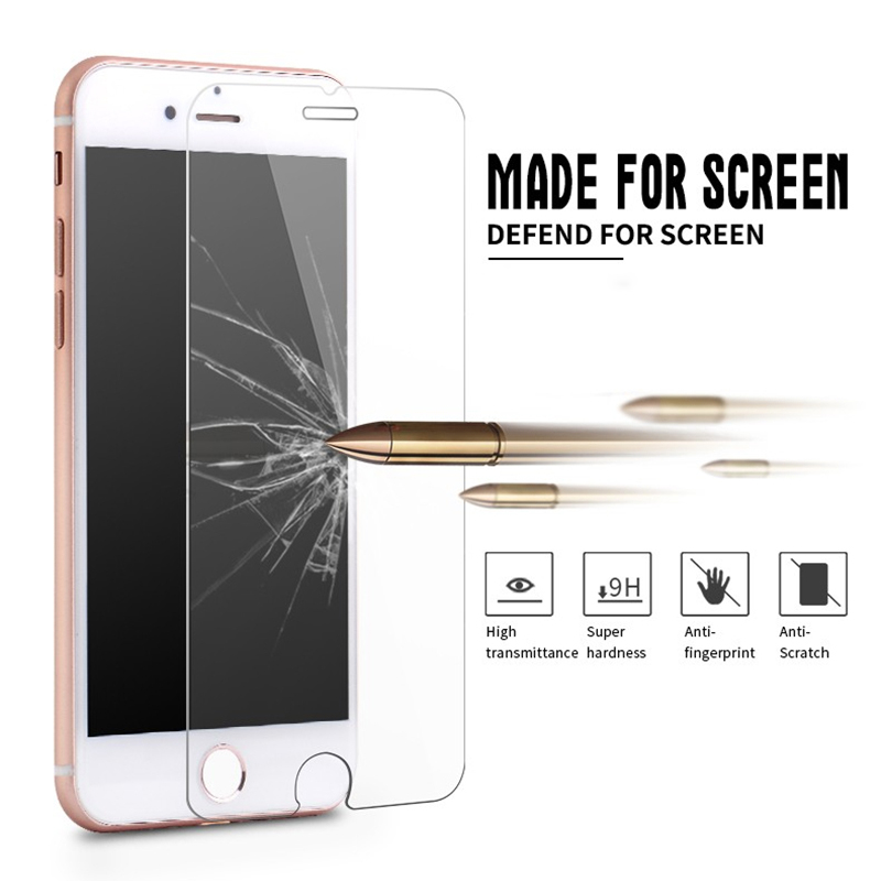 500pcs 0.3mm Tempered Glass Screen Protector 9H Hardness 2.5D Anti-shatter LCD Safe Guard Film for iPhone 5 5S 6 6S 7 Plus 8 X
