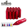 LZONE RACING- 20PCS BX STYLE ALUMINUM EXTENDED TUNER LUG NUTS WITH SPIKE FOR WHEELS/RIMS M12X1.5 JR-ELB1215