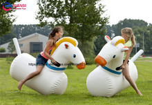 Inflatable Pony Hops Bounce Derby Horse for Adult and Kid Riding Sports Game For Sale недорого