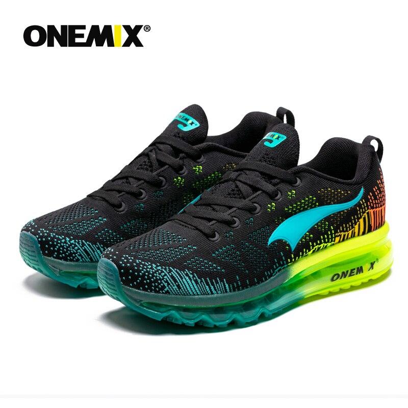 Onemix men's sport running shoes music rhythm men's sneakers breathable mesh outdoor athletic shoe light male shoe size EU 39-47 - 4