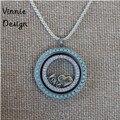 Locket flotante Collar Medallón de Cristal de Acero Inoxidable Collares pendientes (incluye placas ventanas y cadena)