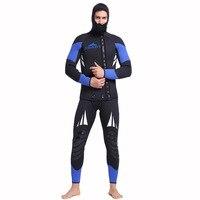 2018 Для мужчин подводной охоты гидрокостюм 5 мм неопрена большой размер Плавание костюм погружения Surf Плавание гидрокостюм Плавание одежда
