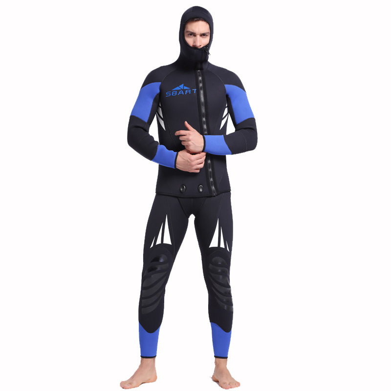 2018 Men Spearfishing Wetsuit 5mm Neoprene Large size Swimsuit Dive Surf Swim Wet Suit Swimwear Long sleeve Beach Wear Triathlon des petits hauts повседневные брюки