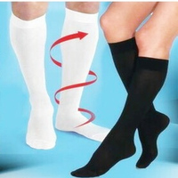 Free Shipping 1 Pair Miracle Varicose Vein Stocking Sports Socks Antifatigue Compression Stockings Soothe Tired Achy