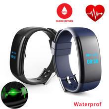 Teamyo D21 обновлен DF30 сердечного ритма крови кислородом Smart Band Водонепроницаемый SmartBand Браслет фитнес-трекер для iOS и Android