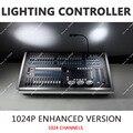 Nova Consola DMX512 1024 P Luz Gatilho Midi Som Sincronização De Luz Controlador de Iluminação de Palco de Agrupamento Avançadas 120 Escurecimento