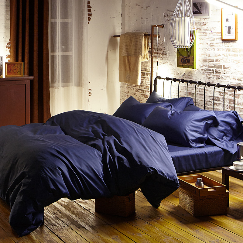 Blue 100% Egyptian Cotton Bedding Sets Bed Sheets Queen Duvet Cover King  Size Double Quilt Doona Bedspread Linen Bedsheet Luxury In Bedding Sets  From Home ...
