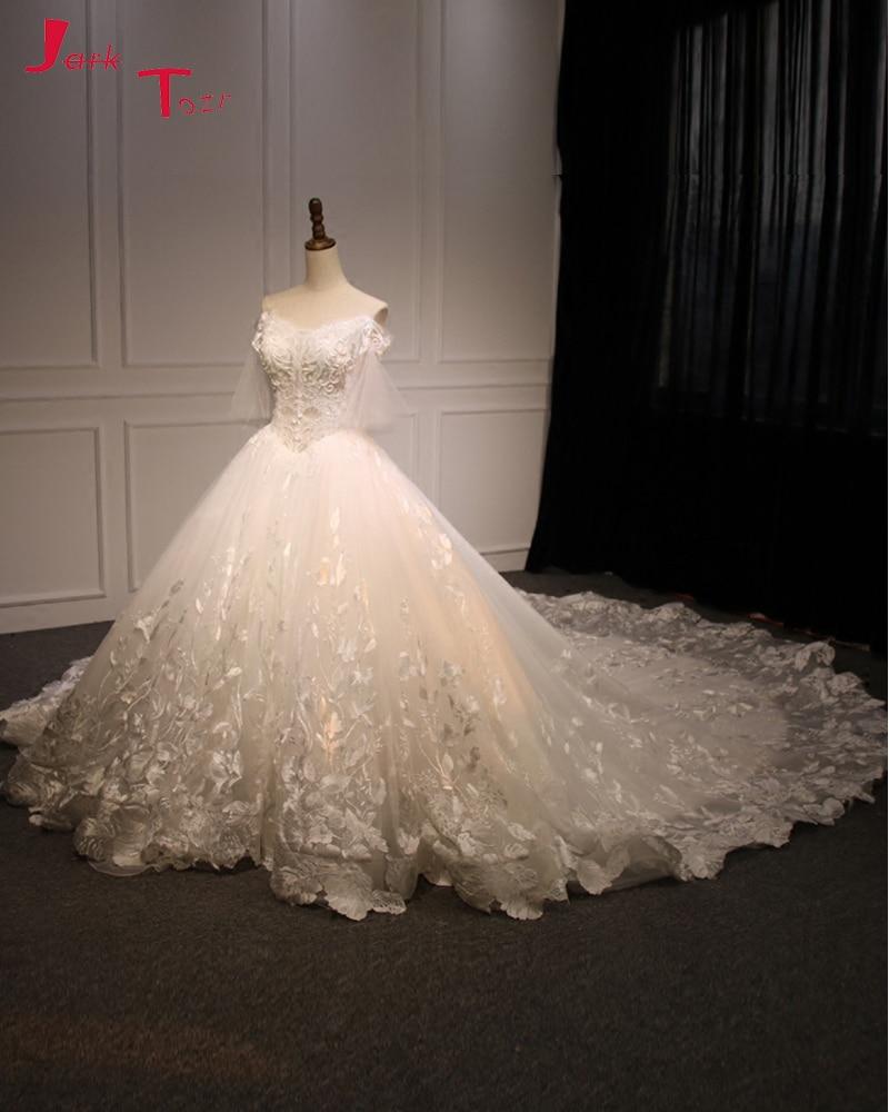 Weddings & Events Jark Tozr Robe Princesse Mariage Lace Inside Vintage Ball Gown Wedding Dresses Long Sleeve 2019 Illusion Back Traje De Novia