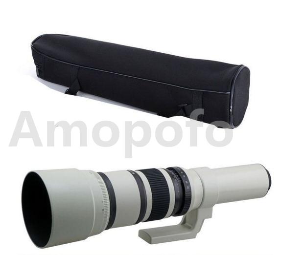 Amopofo,500mm F6.3-32 Telephoto Lens For Sony NEX 3 4 5 6 7 A7 A7R A7RII A7S A5000 Camera объектив sony 18 200mm f 3 5 6 3 e для nex 3 nex 5 sel 18200