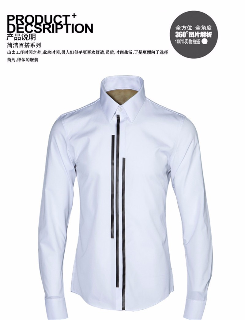 luxury Men dress shirt -16