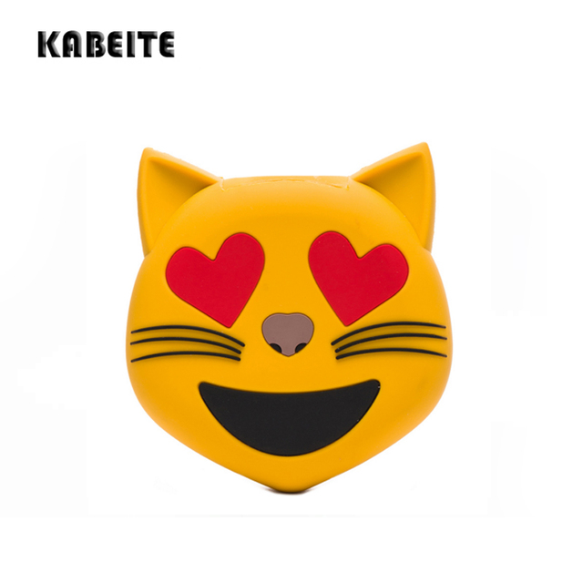 KABEITE 2500mAh Cute Cartoon Cat Power Bank Charging For Mobile Cell Phone Iphone Xiaomi Portable Battery Charger